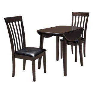 Hammis Round Drop Leaf Dining Room 3 Piece Set