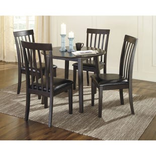 Hammis Dark Brown Contemporary 5 Piece Dining Set