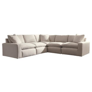 Modular Salerno 5 Piece Sectional Cream
