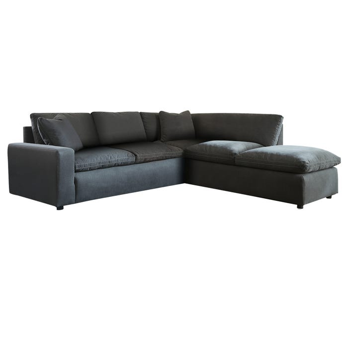Strange Modular Salerno 4 Piece Sectional With Ottoman Charcoal Pabps2019 Chair Design Images Pabps2019Com