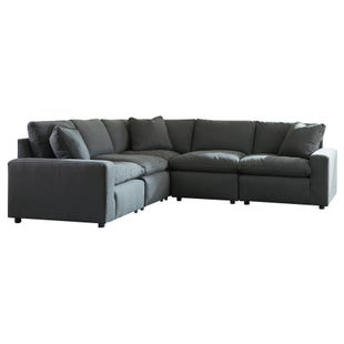 Modular Salerno 5 Piece Sectional Charcoal