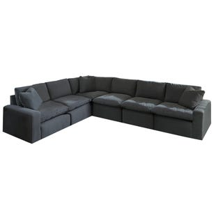 Modular Salerno 6 Piece Sectional Charcoal