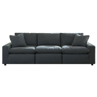 Modular Salerno 3 Piece Sofa Charcoal