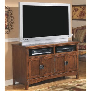"Ashley Cross Island 50"" Oak TV Console"