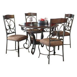 Ashley Glambrey 5 Piece Traditional Dining Set