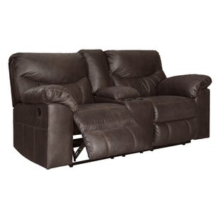 Surprising Ashley Vacherie Faux Leather Chocolate Reclining Loveseat Onthecornerstone Fun Painted Chair Ideas Images Onthecornerstoneorg