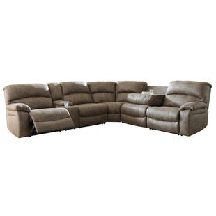 Ashley Segburg Power Reclining Sectional with Dropdown Table
