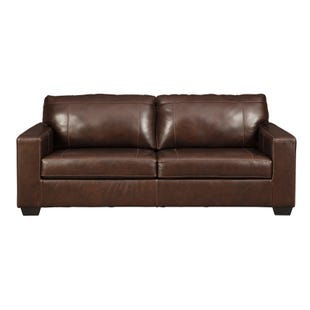 Leather Cyrus Sofa Brown