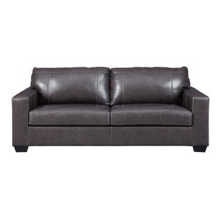 Leather Cyrus Sofa Gray
