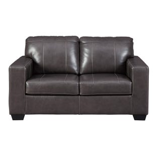 Leather Cyrus Loveseat Gray