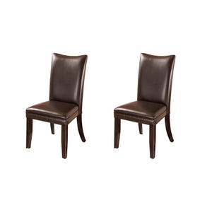 Ashley Charrell Brown Faux Leather Set of 2 Chairs