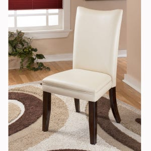 Ashley Charrell Ivory Faux Leather Chair