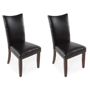 Ashley Charrell Black Faux Leather Set of 2 Chairs