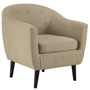 Ashley Madison Park Cream Linen Accent Chair