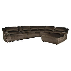 Ashley Clonmel Chocolate Reclining Sectional