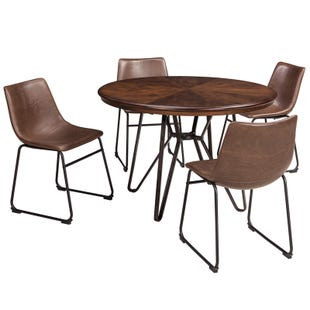 Mid-Century Modern Centair 5 Piece Dining Set in Brown