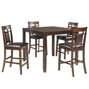 Bennox Warm Brown 5 Piece Counter Height Set