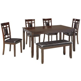 Bennox Warm Brown 6 Piece Dining Set
