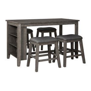 Caitbrook Antiqued Gray 5 Piece Counter Dining Set