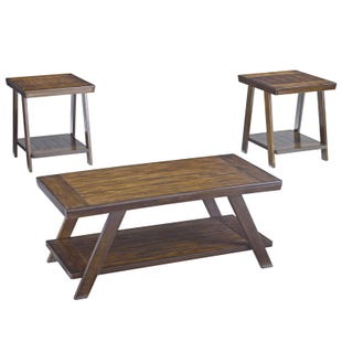 Ashley Bradley Burnished Brown Set of 3 Tables
