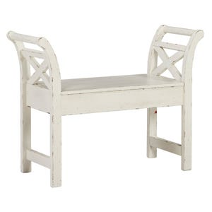 Ashley Heron Ridge White Storage Bench