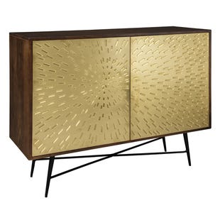 Brass Sunburst Accent Console