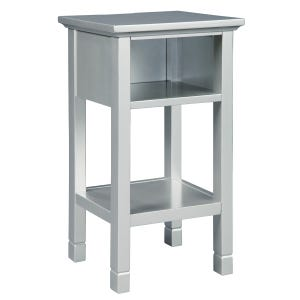 Silver USB Accent Table