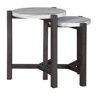 Faux Marble Nesting Table Set of 2