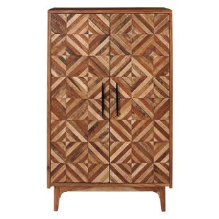 Diamond Inlay Pattern Cabinet