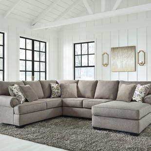 Ashley Renchen 3 Piece Gray Fabric Sectional
