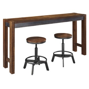 Torjin Sofa Table with Set of 2 Stools