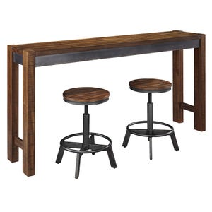 Torjin Long Counter Table with 2 Stools