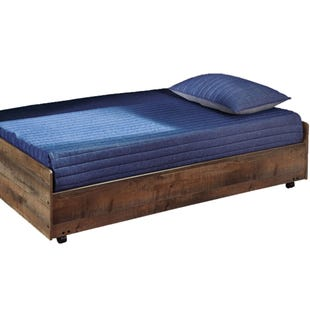 Ashley Trinet Rustic Twin Plank Caster Bed