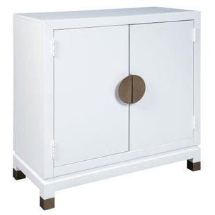 Ashley Walentin White Accent Chest