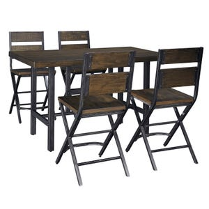 Ashley Anderson Medium Brown 5 Piece Counter Height Set