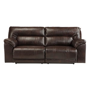 Ashley Barrettsville Brown Bonded Leather Reclining Sofa