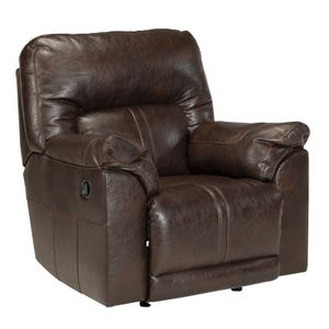 Ashley Barrettsville Brown Bonded Leather Rocker Recliner