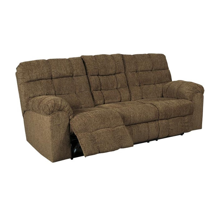 Ashley Antwan Brown Reclining Sofa With Drop Down Table Weekends