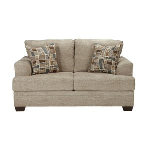 Barrish Beige Twill Loveseat