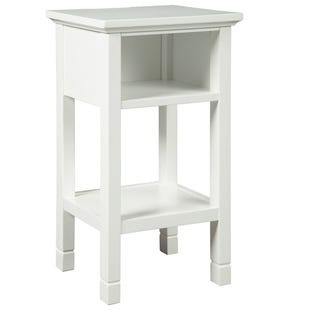 Lilly White USB Port Accent Table