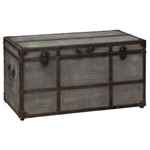 Rustic Gray Storage Trunk