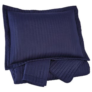 Navy 3 Piece King Coverlet Set