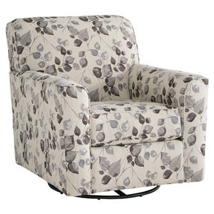Moxie Cream Swivel Accent Chair