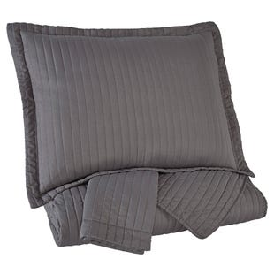 Caldwell Gray 3 Piece King Coverlet Set