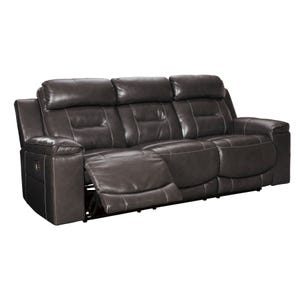 Ashley Pomellato Top Grain Leather Power Reclining Sofa