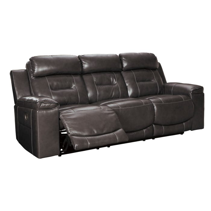 Astounding Ashley Pomellato Top Grain Leather Power Reclining Sofa Home Interior And Landscaping Elinuenasavecom