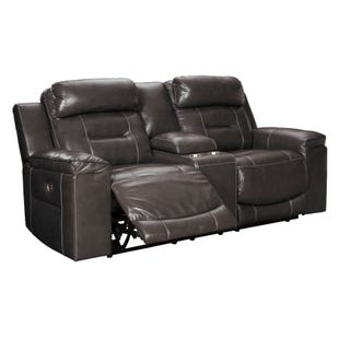Ashley Pomellato Top Grain Leather Power Reclining Loveseat