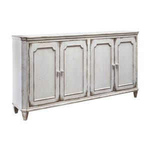 "Ashley York 67"" Cream Distressed  Accent Console"