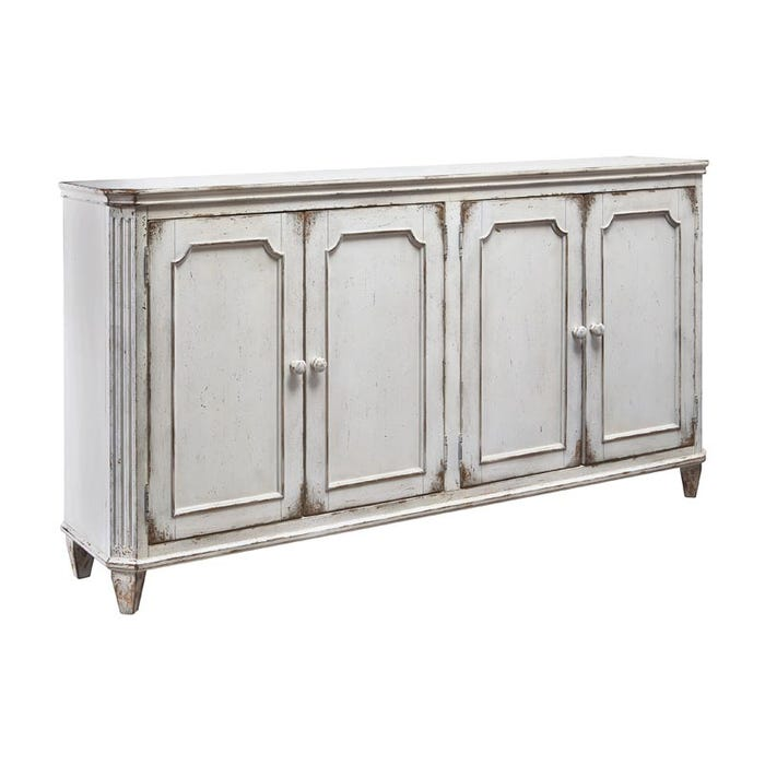 Ashley York 67 Cream Distressed Accent Console Weekends Only Furniture
