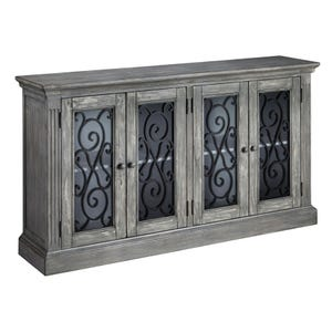 Ashley Mirimyn Antique Gray Accent Cabinet